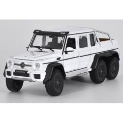 ขาย pre-order โมเดลรถเหล็ก Benz G63 6*6 amg สีขาว 1:24 มี โปรโมชั่น