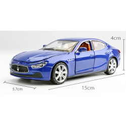 พร้อมส่ง รถโมเดล รถเหล็ก มีไฟมีเสียง Maserati Ghibil น้ำเงิน 1:32 มี โปรโมชั่น