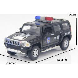 พร้อมส่ง รถโมเดล รถเหล็ก มีไฟมีเสียง Hummer Police 1:32 มี โปรโมชั่น