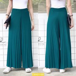 """CM1185 *สีเขียวเข้ม* เอว28-40"""" กางเกงขายาวผ้ายืดเนื้อเด้ง"""