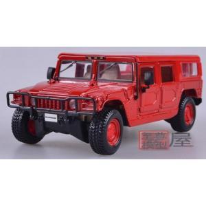 ขาย พรีออเดอร์ โมเดลรถเหล็ก โมเดลรถยนต์ Hummer H1 1:24 แดง มี โปรโมชั่น