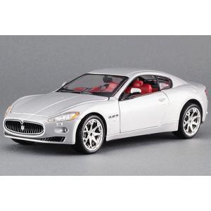 ขาย พรีออเดอร์ โมเดลรถเหล็ก โมเดลรถยนต์ ประกอบ Maserati GT เงิน 1:24 สเกล มี โปรโมชั่น