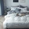 ผ้าปูที่นอน ลายจุด-ชิโนริ สีขาว ดำ