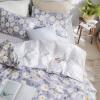 ผ้าปูที่นอน ลายดอกไม้ เดซี่ สีเทา-ขาว ตาราง