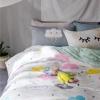 ผ้าปูที่นอนลายก้อนเมฆ สีสันสดใส