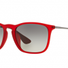 Ray Ban RB4187F 898/11 RUBBER TRASPARENT RED Grey Gradient