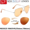 Ray Ban Aviator Evolve RB3025 9065V9 Orange Photochromic