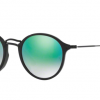 Ray Ban RB2447F 901/4J SHINY BLACK Mirror Gradient Green