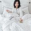 ผ้าปูที่นอนลายสัปปะรด ลายสก๊อตสีน้ำเงิน-สีขาว Hello Mantime