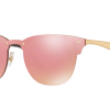Ray-Ban RB3576N 043/E4 BRUSHED GOLD Pink Mirror Pink