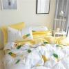 ผ้าปูที่นอนลายสัปปะรด สีเหลือง-ขาว