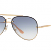 Ray Ban Aviator RB3584N 001/19 GOLD Clear Gradient Light Blue