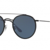 Ray Ban RB3647N 002/R5 Black Round Double Bridge