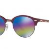 Ray Ban RB4246 1222C2 TOP BORDEAUX ON TRASPARENT BOR Light Grey Mirror Rainbow 1
