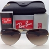 Ray Ban RB3449 001/13 Aviator rimless Brown Gradient