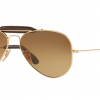 Ray Ban RB3422Q 001/M2 SHINY GOLD Polar Brown Gradient