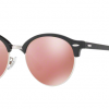 Ray Ban RB4246 1197Z2 TOP WRINKLED BLACK ON BLACK Brown Mirror Pink