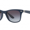 Ray-Ban RB4195F 63318G MATTE DARK BLUE Grey Gradient Dark Grey