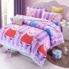 ผ้าปูที่นอน ลายการ์ตูนหมู สีชมพู PePe Bedding Set