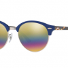 Ray Ban RB4246 1223C4 TOP BLUE ON TRASPARENT BLUE Light Grey Mirror Rainbow 3