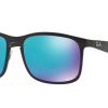 Ray-Ban RB4264 601SA1 MATTE BLACK Blue Flash Chomance Polarized