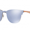 Ray-Ban RB3576N 90391U BRUSCHED COPPER Dark Violet Mirror Silver