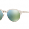 Ray Ban RB4246 988/2X TOP WRINKLED WHITE ON WHITE Green Mirror Green