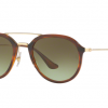 Ray Ban RB4253 820/A6 STRIPPED HAVANA Green Gradient Brown