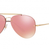 Ray Ban Aviator RB3584N 9052E4 GOLD Pink Mirror Pink