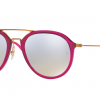 Ray Ban RB4253 62359U SHINY FUXIA Grey Flash Gradient