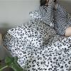 ผ้าปูที่นอน ลายเสือดาว สีขาว-ดำ