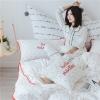 ผ้าปูที่นอนลายจุดนกฟลามิงโก้ ลายสก๊อตสีแดง-สีขาว Hello Mantime