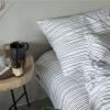 ผ้าปูที่นอน ลายเส้น สีขาว-ดำ Line Bedding