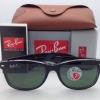 Ray Ban Wayfarer RB 2132 6052/58 Black on Clear Polarized