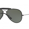 Ray Ban RB3422Q 9040 LEATHER BLACK Green