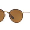 Ray Ban RB3475Q 9041 Round Craft Leather Brown