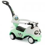 รถขาไถแพนด้า 2 in1 (รถขาไถ +รถเข็น) สีเขียว ฟรีค่าจัดส่ง
