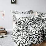 ผ้าปูที่นอน ลายเสือดาว ตาราง สีส้ม-ดำ Multivariate