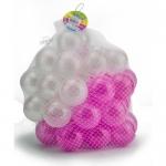 ลูกบอลขนาด 3 นิ้ว จำนวน 50 ลูก(สีขาว-ชมพู)...ฟรีค่าจัดส่ง