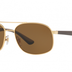 Ray Ban RB3593 001/83 GOLD Polarized Brown