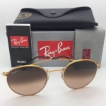 Ray-Ban RB3447 9001/A5 Round metal Light bronze/Brown gradient lenses