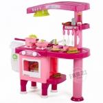 ชุดเครื่องครัวแฮมเบอร์เกอร์ สีชมพู Kitchen set ...ฟรีค่าจัดส่ง