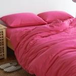 ผ้าปูที่นอน สีพื้น สีชมพู เนื้อผ้าถักนิตติ้ง KnittedCotton