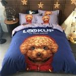 ผ้าปูที่นอนลายหมา พุดเดิ้ล งาน3D พิมพ์ลาย