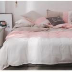 ผ้าปูที่นอนสีพื้น ไล่ระดับเฉดสี โทนสีชมพู