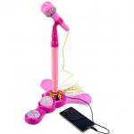 ไมค์โครโฟน Music&Light สีชมพู ฟรีค่าจัดส่ง