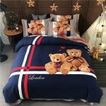 ผ้าปูที่นอนลายหมี งาน3D พิมพ์ลาย