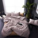 ผ้าปูที่นอน ลายทางเส้นสีขาว