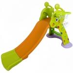 สไลเดอร์ พร้อมแป้นบาส รูปกวางน้อยสีส้ม-เขียว