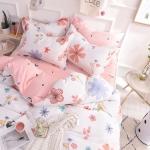 ผ้าปูที่นอนลายดอกไม้ พิมพ์ลาย